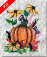 Peeking Pumpkin Mice Wool Kit BS3-102K