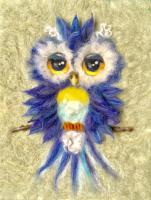 Sweet Owl Wool Needle Felting Pattern BS3-105