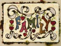 Family Punch Needle Embroidery Design BS4-121