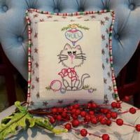 Naughty or Nice Embroidery Pillow Pattern CAM-577e