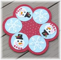 Mr. Snowflake Candle Mat Pattern CCUP-282