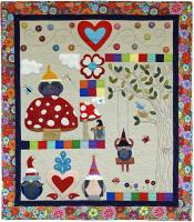 Gnome Garden Party Wall Hanging Pattern CH-132