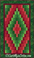 Christmas Diamond Quilt Pattern CJC-288215