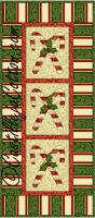 Candy Cane Panel Quilt Pattern CJC-4063