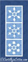 Star Snowflake Panel Quilt Pattern CJC-4080