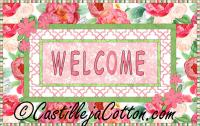 Welcome with Flowers Quilt Pattern CJC-410914