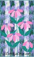 Ribbon Cone Flowers Quilt Pattern CJC-416311