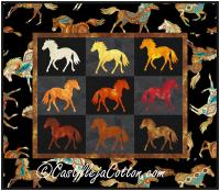 Painted Ponies Quilt Pattern CJC-424612