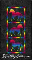 Variegated Ponies Wall Hanging Pattern CJC-433510