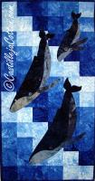 Humpback Family Dive Quilt Pattern CJC-4373