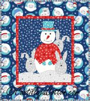 New Snowman Neighbor Quilt Pattern CJC-43756