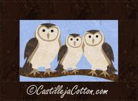 Barn Owl Family Quilt Pattern CJC-4548