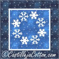 Circle of Snowflakes Quilt Pattern CJC-46175