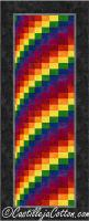 Rainbow Bargello Quilt Pattern CJC-46288