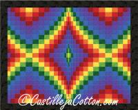 Bargello Diamond Echo Quilt Pattern CJC-4716
