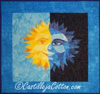 Sun and Moon Art Quilt Pattern CJC-47211