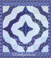 Sprial Log Cabin Queen Quilt Pattern CJC-4750