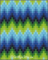 Bargello Waves Quilt Pattern CJC-4772