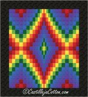 Bargello Diamond Echo Queen Quilt Pattern CJC-48921