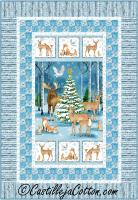 Forest Christmas Quilt Pattern CJC-49114
