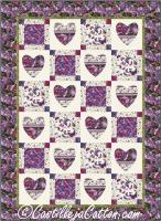 Hearts & Squares Quilt Pattern CJC-49161