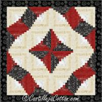 Twisting Log Cabin Quilt Pattern CJC-4961