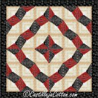 Curling Log Cabin Quilt Pattern CJC-4962