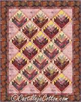 Log Cabin Flowers Quilt Pattern CJC-4966