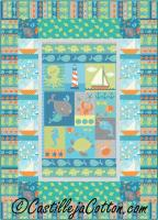 Splashing Boats Quilt Pattern CJC-49711