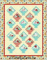 Floral Baskets Quilt Pattern CJC-4979