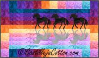 Horses at Sunset Quilt Pattern CJC-50004