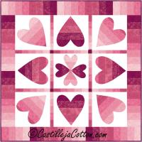 Turning Hearts Quilt Pattern CJC-5037