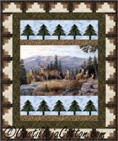 Log Cabin Trees Panel Quilt Pattern CJC-50671