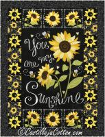 Sunshine Sunflowers Crib Quilt Pattern CJC-50743