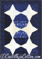 Circle Log Cabin Quilt Pattern CJC-50831