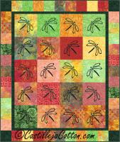 Transparent Dragonflies Quilt Pattern CJC-50971