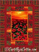 Sunset Poppies Quilt Pattern CJC-51141