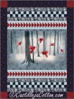 Winter Cardinals Quilt Pattern CJC-5138