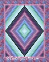 Plume Rippling Diamonds Quilt Pattern CJC-51582