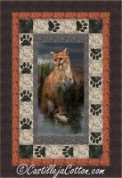 Cougar and Paws Panel Quilt Pattern CJC-51741