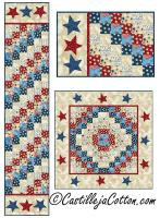 Stars and Strips Sixes Table Set Pattern CJC-52010