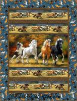 Horses Running Panel Quilt Pattern CJC-52041