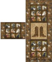 Horse and Boots Table Set Quilt Pattern CJC-52110