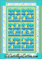 Fish Aquarium Quilt Pattern CJC-52181