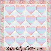 Pieced Hearts Quilt Pattern CJC-52301