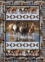 Horses Fording the River Quilt Pattern CJC-52711