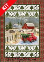 Christmas Truck Quilt Kit or Fabric Panel CJC-52741K