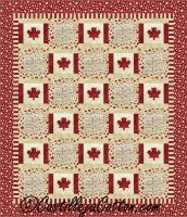 Double Canada is My Country Quilt Pattern CJC-52861