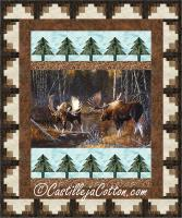 Moose in the Stream Quilt Pattern CJC-53051