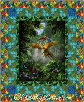 Jungle Parrots Quilt Pattern CJC-53671